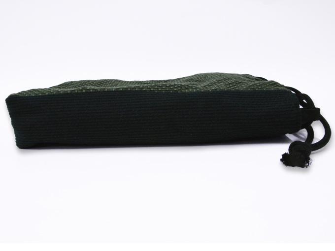 ドビー刺子織信玄袋  グリーン(緑) 側面