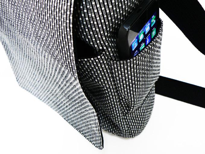 作務衣用刺子織ショルダーバッグ グレー
