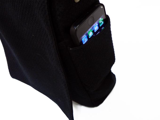 作務衣用刺子織ショルダーバッグ 黒