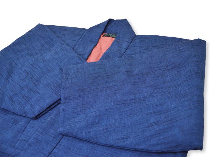 刺子織作務衣式綿入れ袢天 上着