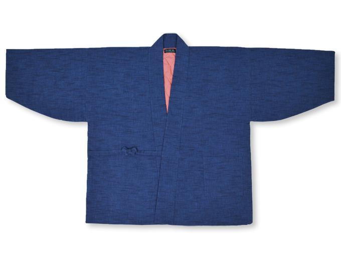 刺子織作務衣式綿入れ袢天 上着オモテ
