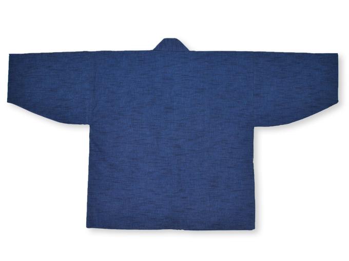 刺子織作務衣式綿入れ袢天 上着ウラ