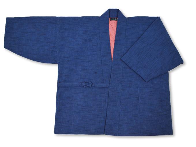 刺子織作務衣式綿入れ袢天 全体