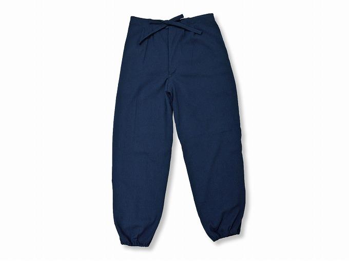 綿楊柳・ゴム袖作務衣 濃紺ズボン部分