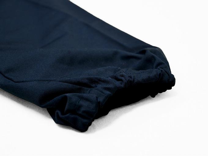 綿ポリ綾織作務衣 濃紺 ズボン裾