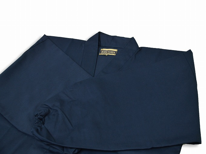 綿ポリ綾織作務衣 濃紺畳んだ状態