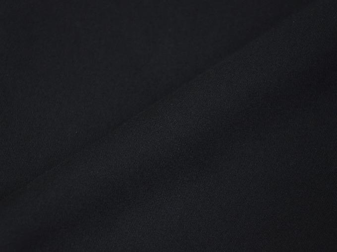 綿ポリ綾織作務衣 黒(ブラック) 生地拡大