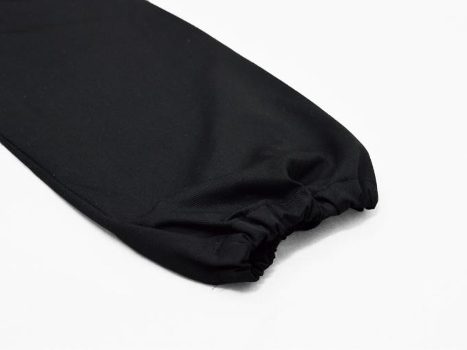 綿ポリ綾織作務衣 黒(ブラック) ズボン裾
