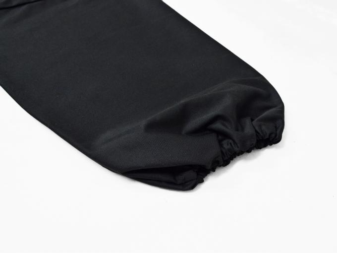 綿ポリ綾織作務衣 黒(ブラック) 上着袖部分