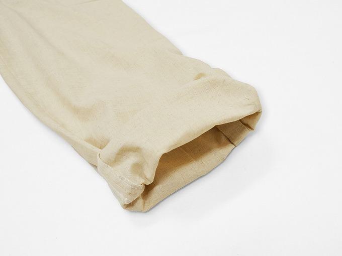 高機能麻綿ロールアップ作務衣 No.1 生成り ロールアップ裾