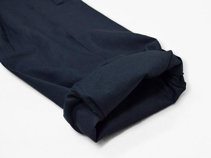 高機能麻綿ロールアップ作務衣 No.2 濃紺 ロールアップ裾