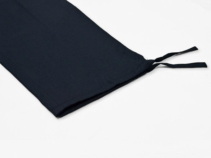 高機能麻綿ロールアップ作務衣 No.2 濃紺 ズボン裾