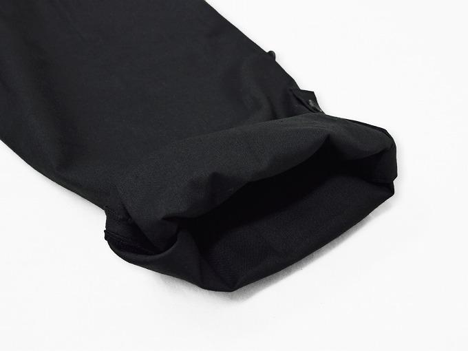 高機能麻綿ロールアップ作務衣 No.4 黒 ロールアップ裾