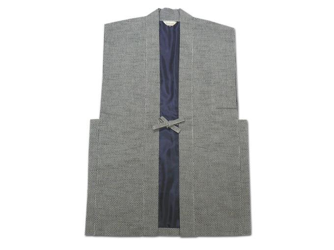 大柄ドビー刺子・作務衣用羽織グレー
