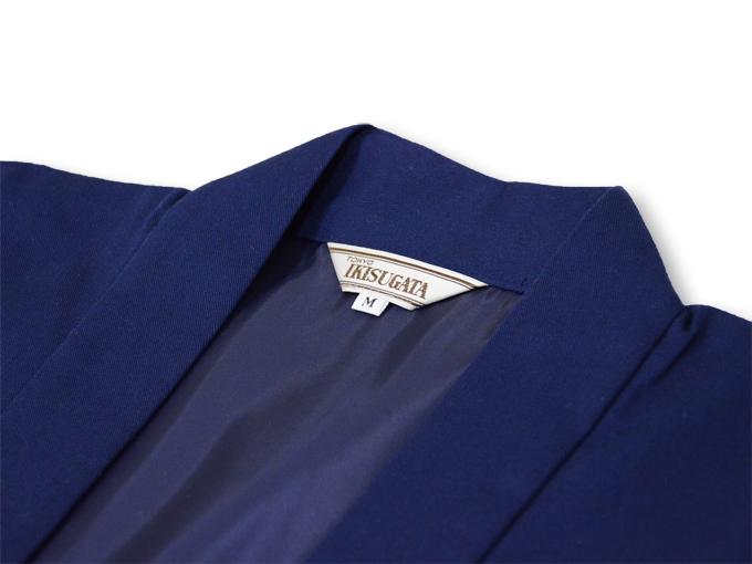 作務衣用羽織(綾織)濃紺 衿部分