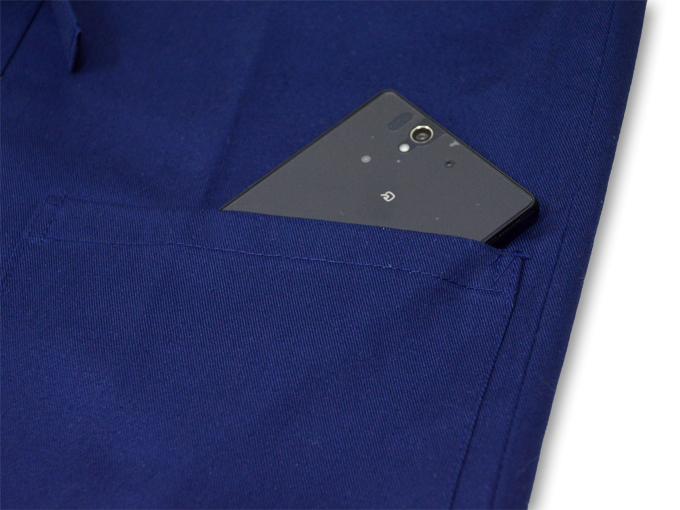 作務衣用羽織(綾織)濃紺 ポケット部分