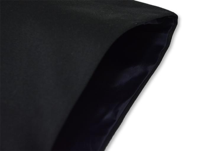 作務衣用羽織(綾織)黒-ブラック 肩部分