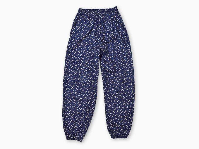 女性総柄作務衣 絣桜(かすりざくら)紺ズボン