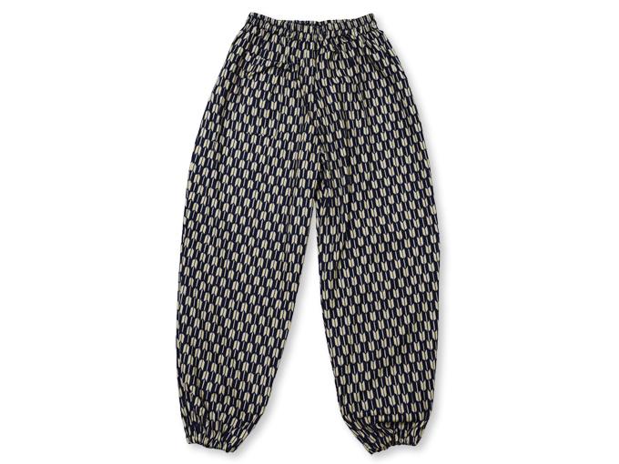 女性総柄作務衣 矢絣やがすり(矢羽根やばね)ズボン