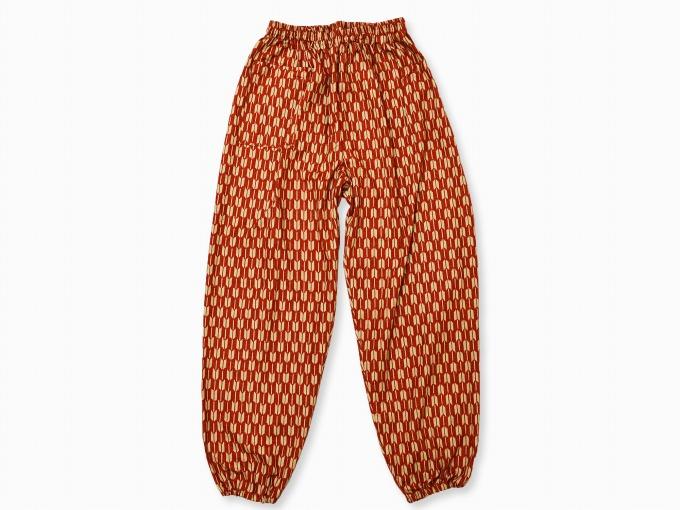 女性総柄作務衣 矢絣(やがすり)/矢羽根(やばね)ズボン