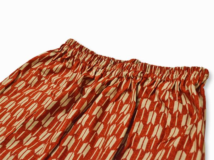女性総柄作務衣 矢絣(やがすり)/矢羽根(やばね)ズボンウエスト