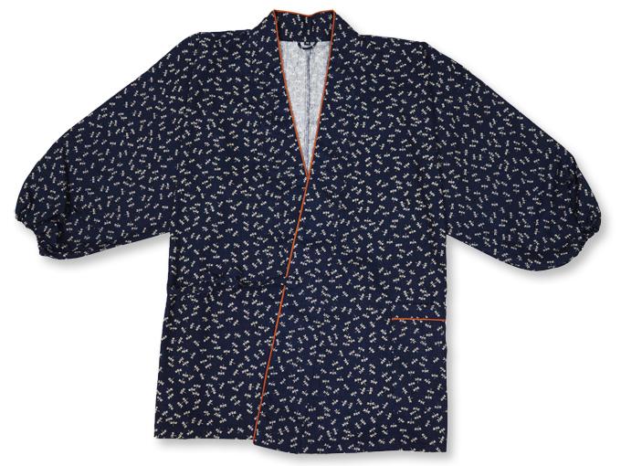 女性総柄作務衣 トンボ(とんぼ)上着1