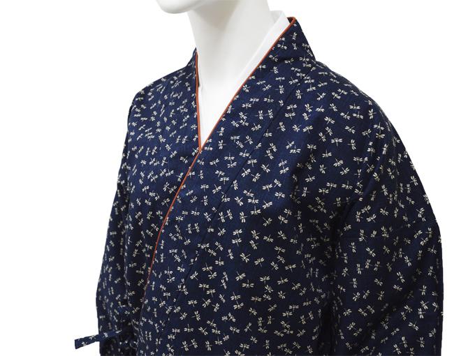 女性総柄作務衣 トンボ(とんぼ)マネキン