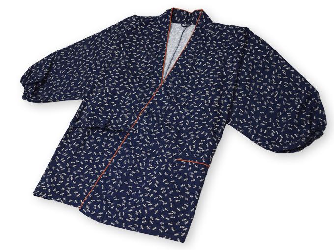 女性総柄作務衣 トンボ(とんぼ)上着2