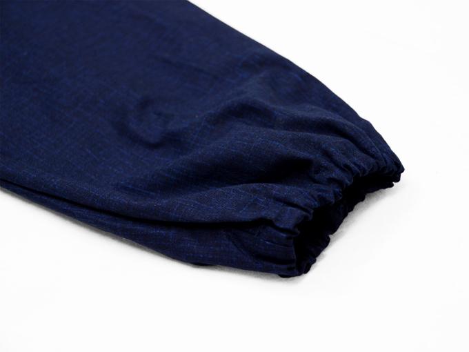 女性片柄作務衣 トンボ(蜻蛉)ズボン裾