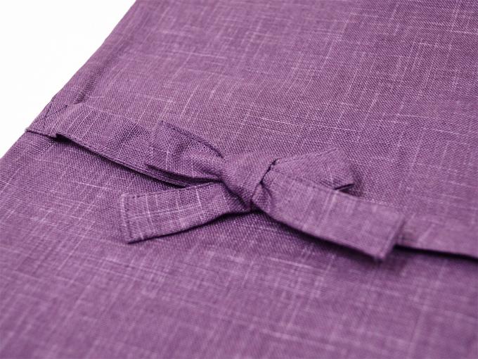 絣紬作務衣(かすりつむぎさむえ) 上着紐部分