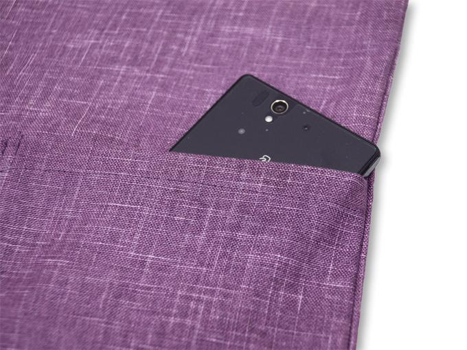 絣紬作務衣(かすりつむぎさむえ) 上着ポケット部分