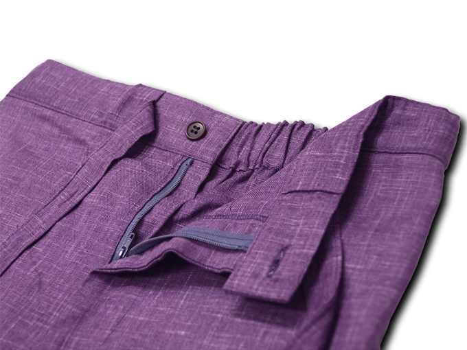 絣紬作務衣(かすりつむぎさむえ) ズボンウエスト部分