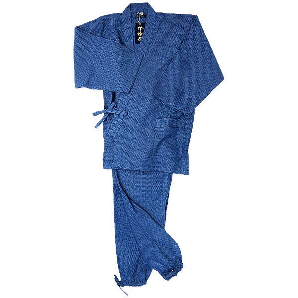 亀甲作務衣1番色  紺