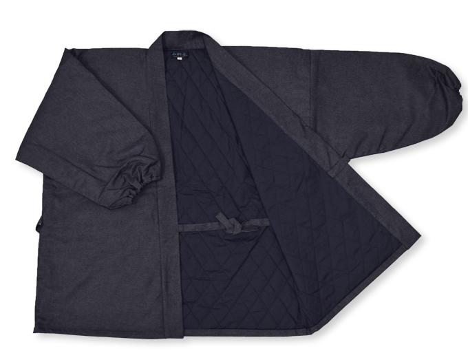 デニム綿入キルト作務衣 【和粋庵】 濃紺 上着