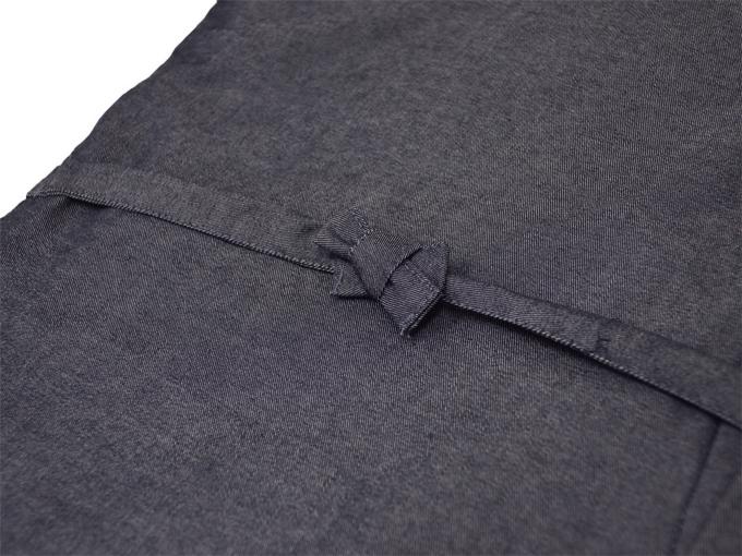 デニム綿入キルト作務衣 【和粋庵】 濃紺 上着紐部分