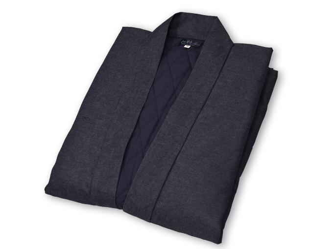 デニム綿入キルト作務衣 【和粋庵】 濃紺 畳んだ状態