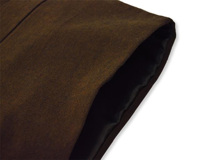 地厚生地作務衣用 羽織 IKISUGATA 茶(ブラウン) 肩部分