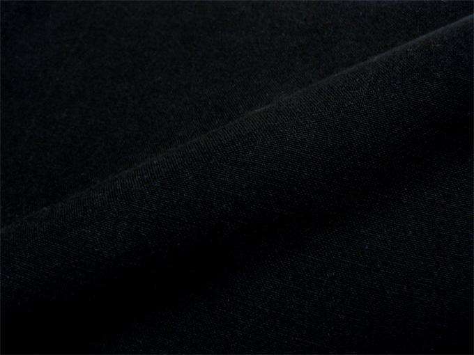 地厚生地作務衣用 羽織 IKISUGATA 黒(ブラック) 生地拡大