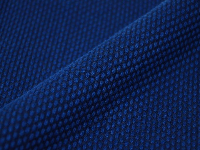 地厚刺子作務衣用羽織 濃紺(ネイビー・藍色)生地拡大