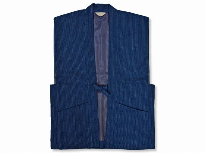 地厚刺子作務衣用羽織 濃紺(ネイビー・藍色)