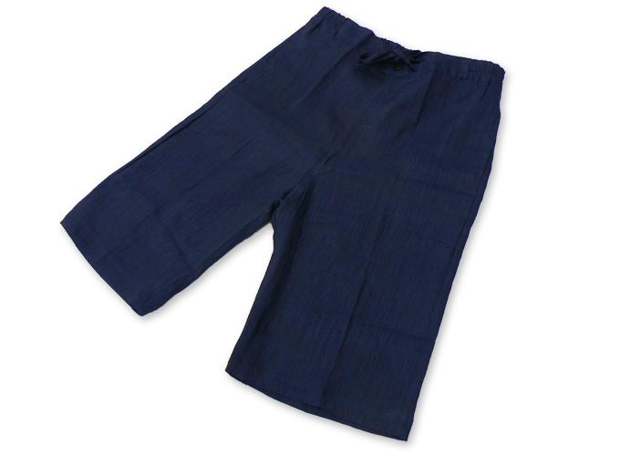 本麻楊柳甚平(日本製) 濃紺 ズボン