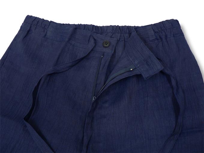 本麻楊柳甚平(日本製) 濃紺