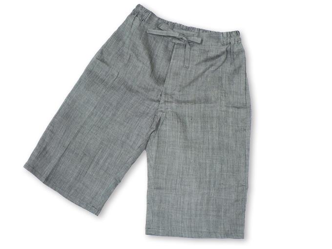本麻楊柳甚平(日本製) グレー ズボン