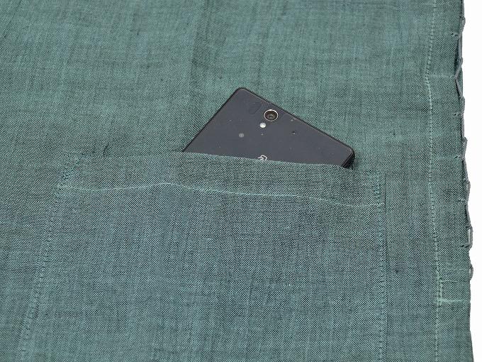 本麻楊柳甚平(日本製) グリーン