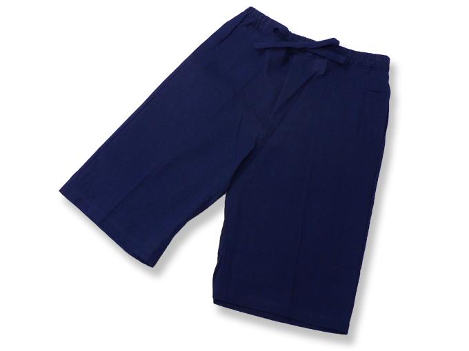 綿しじら甚平(日本製) 濃紺 ズボン