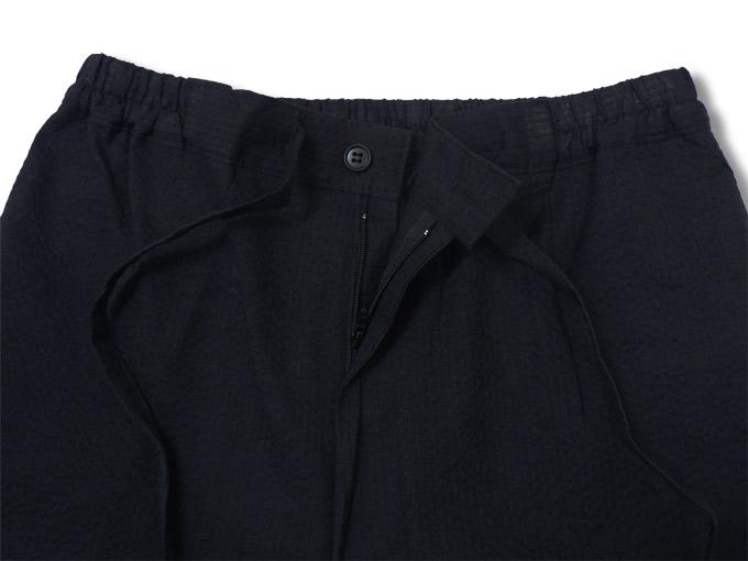 綿しじら甚平(日本製) 黒