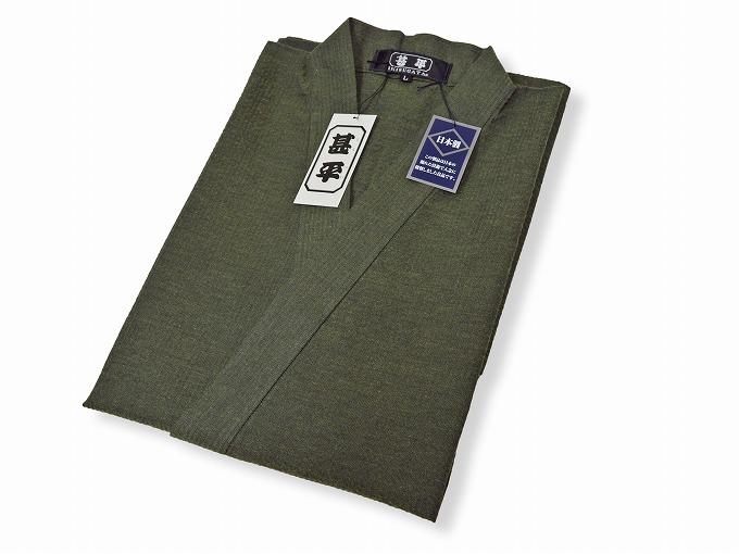 綿しじら甚平(日本製) グリーン 畳み