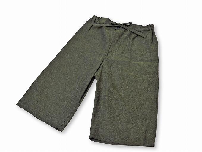 綿しじら甚平(日本製) グリーン ズボン