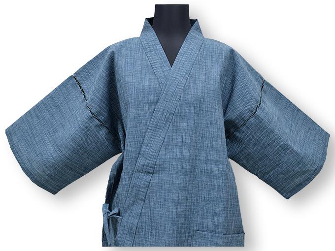 綿楊柳柄甚平(日本製) No.1 畳み