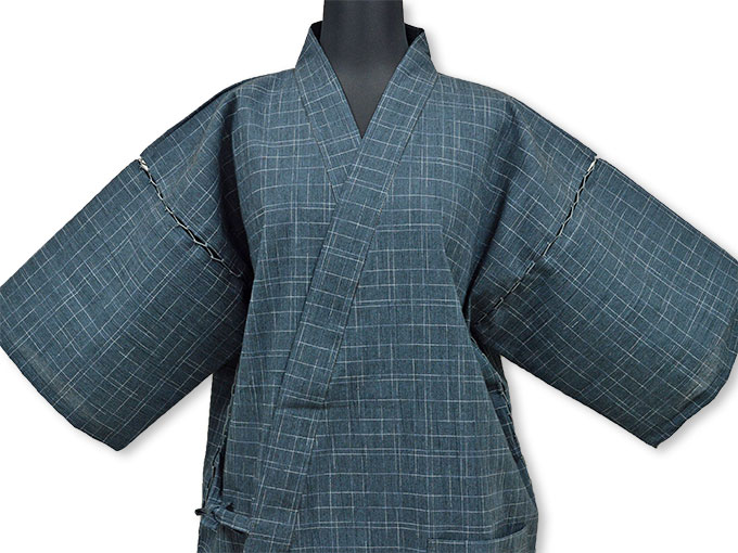 綿楊柳柄甚平(日本製) No.4 畳み